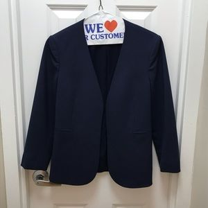 Theory Blue Open Suit Jacket